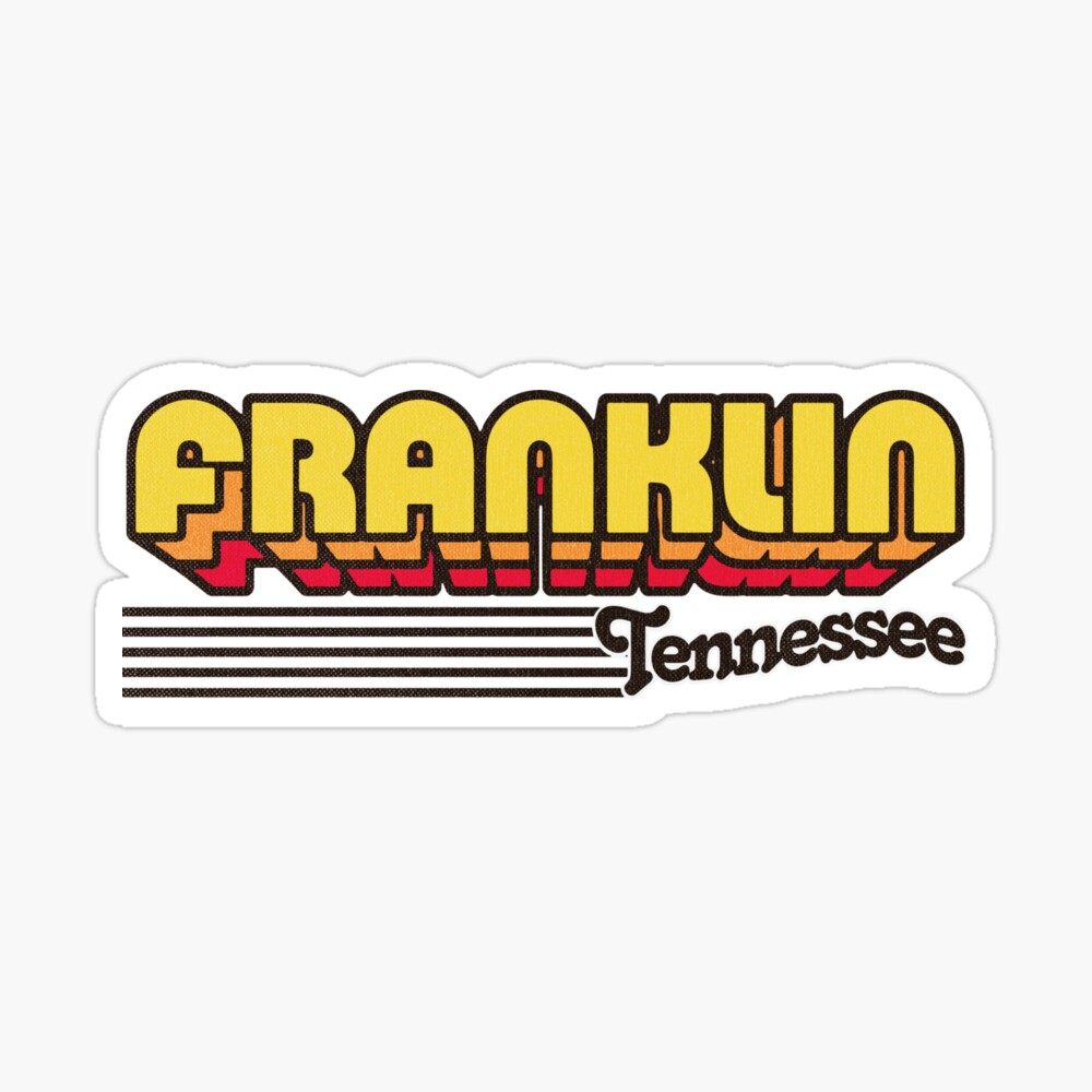 Franklin, Tennessee | Retro Stripes Sticker