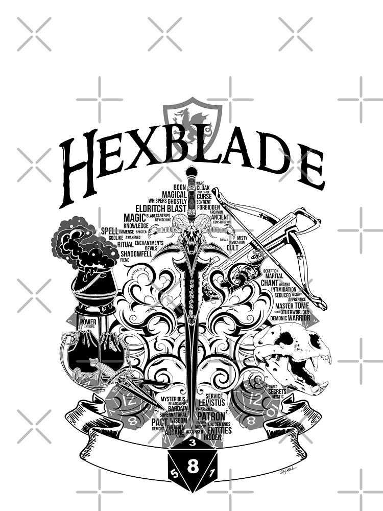 RPG Class Series: Hexblade - Black Version   Graphic T-Shirt