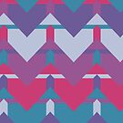 Cool Waves #redbubble #violet #pattern by designdn