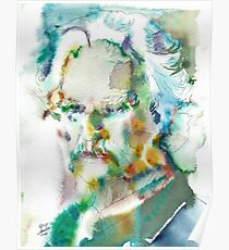 MARK TWAIN - watercolor portrait.4 Poster