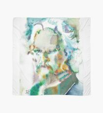 MARK TWAIN - watercolor portrait.4 Scarf