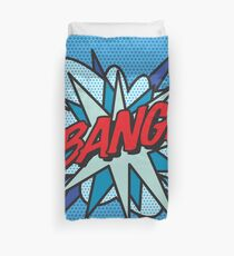 Comic Book Pop Art BANG! Duvet Cover