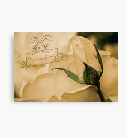 Roses for Easter Canvas Print