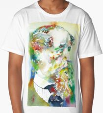 CHARLES DICKENS - watercolor portrait.4 Long T-Shirt