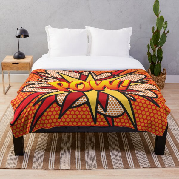 POW Comic Book Pop Art Trendy Fun Throw Blanket