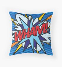 Comic Book Pop Art WHAM! Throw Pillow