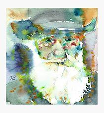 CHARLES DARWIN - watercolor portrait.7 Photographic Print