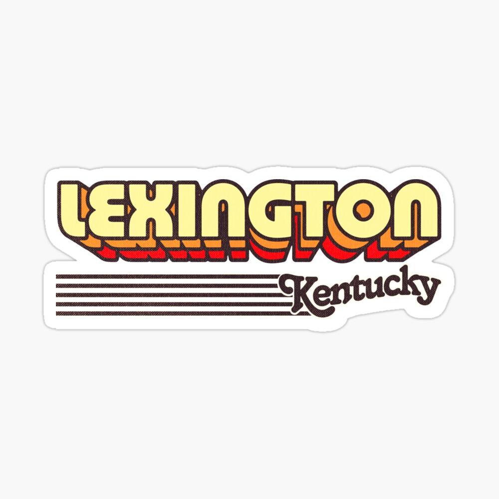 Lexington, Kentucky | Retro Stripes Sticker