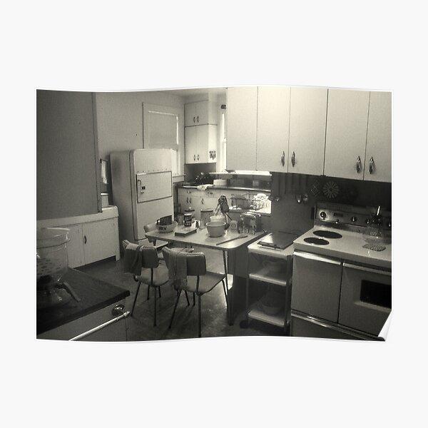 Nostalgic Kitchen Poster