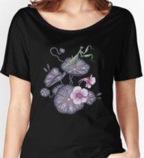 Black Indian cress garden. Women's Relaxed Fit T-Shirt