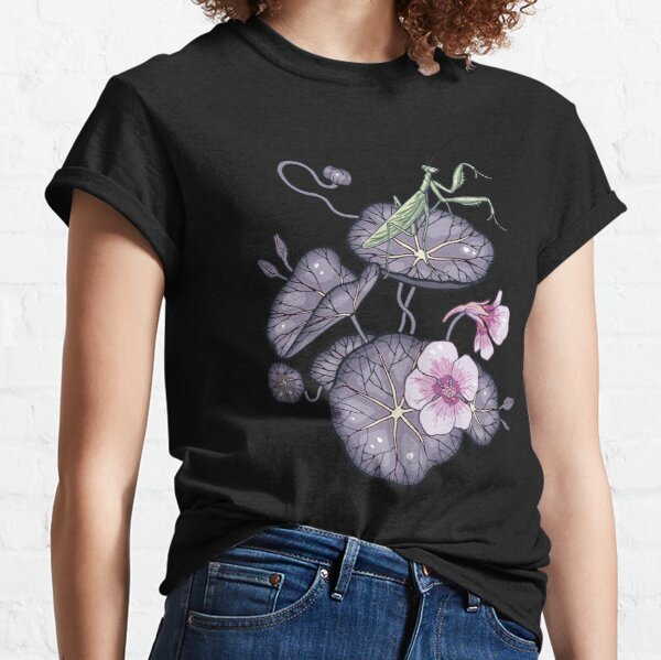 Black Indian cress garden. Classic T-Shirt