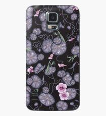 Black Indian cress garden. Case/Skin for Samsung Galaxy