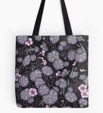 Black Indian cress garden. Tote Bag