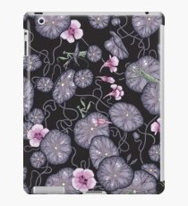 Black Indian cress garden. iPad Case/Skin