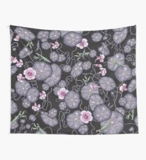 Black Indian cress garden. Wall Tapestry