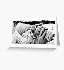 Water and Ice II Greeting Card
