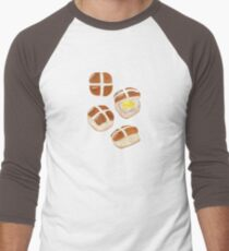 Hot Cross Buns Men's Baseball ¾ T-Shirt