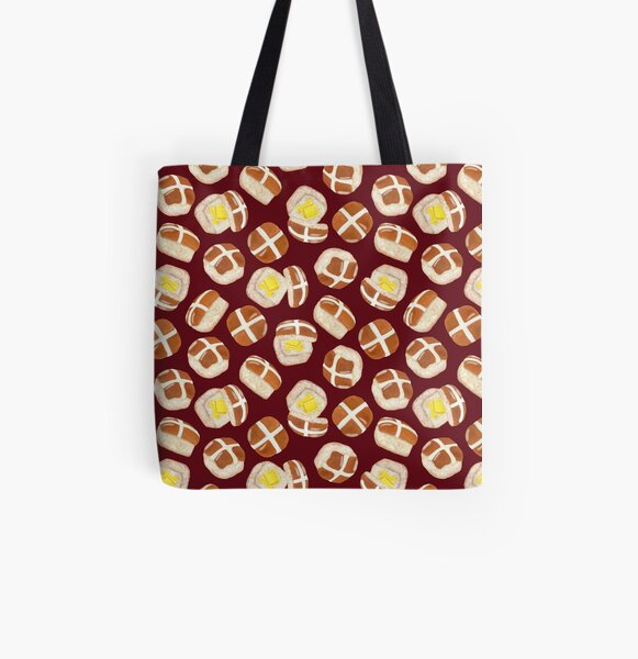 Hot Cross Buns All Over Print Tote Bag