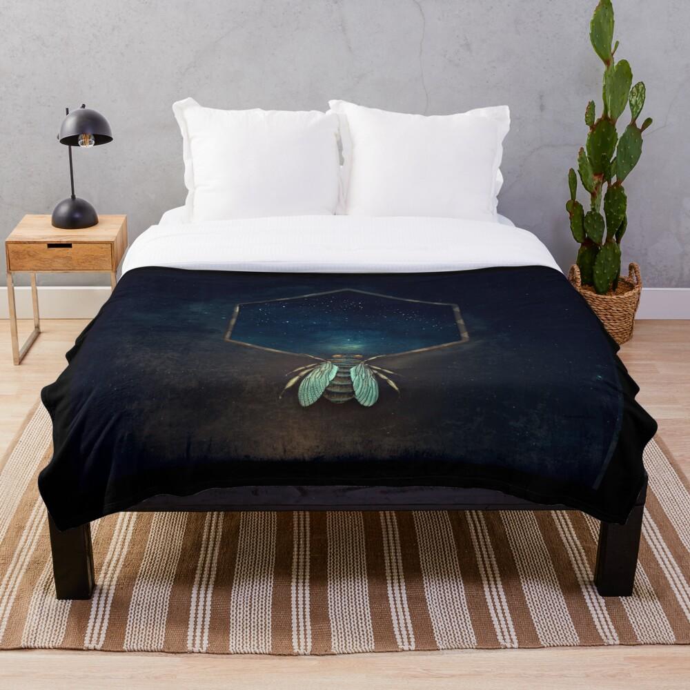 Bee Universe Throw Blanket