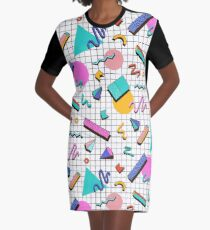 Funky 80s eighties Memphis Pattern Design Graphic T-Shirt Dress