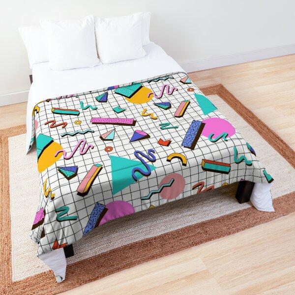 Funky 80s eighties Memphis Pattern Design Comforter