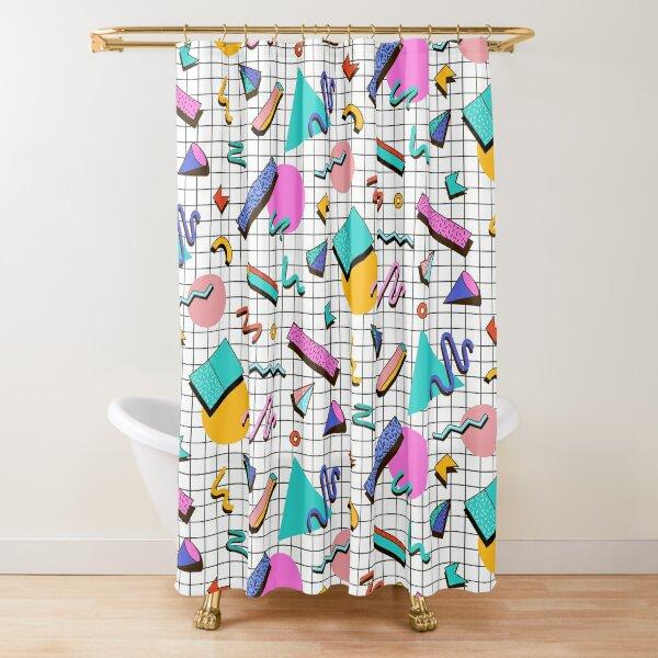 Funky 80s eighties Memphis Pattern Design Shower Curtain