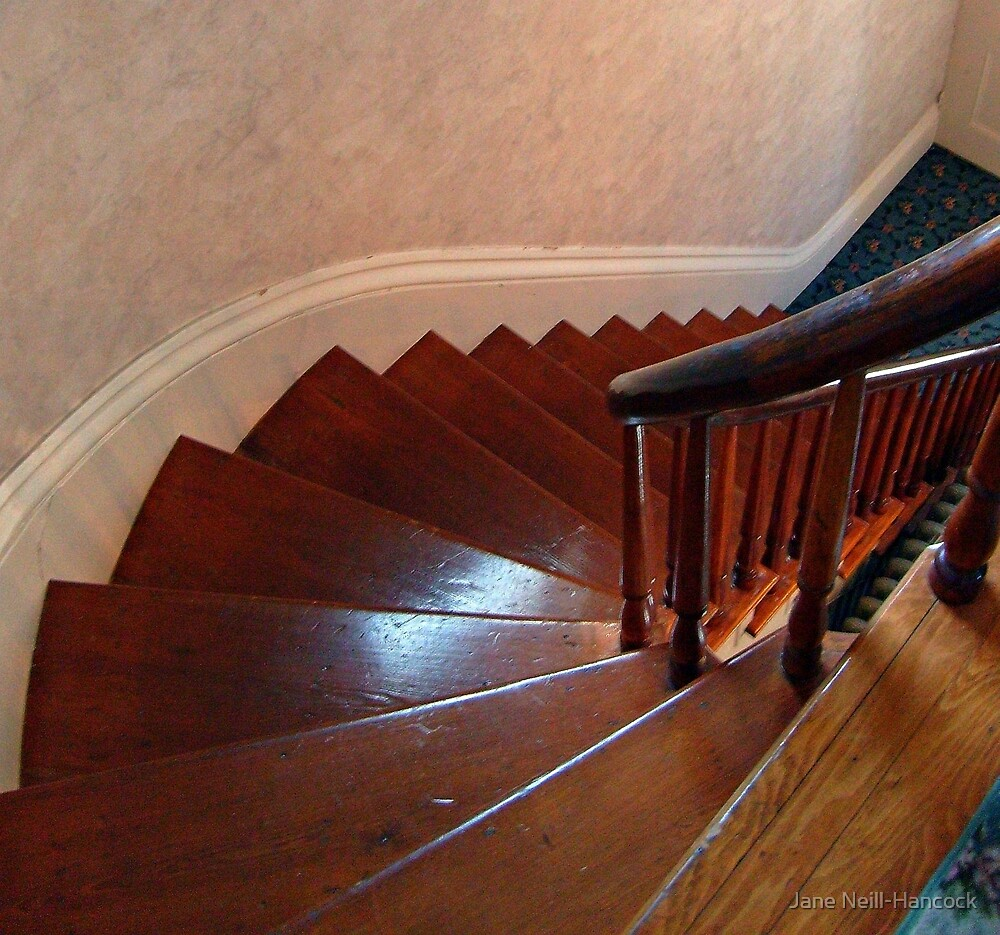 Front Stairs At The Lizzie Borden House by Jane Neill-Hancock