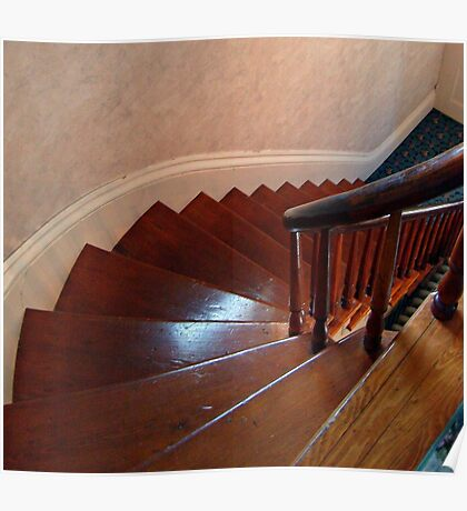 Front Stairs At The Lizzie Borden House Poster