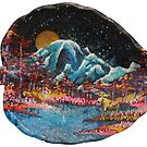 « la nuit tombe sur la montagne » par Stiopic