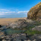 Perranporth beach Cornwall by eddiej