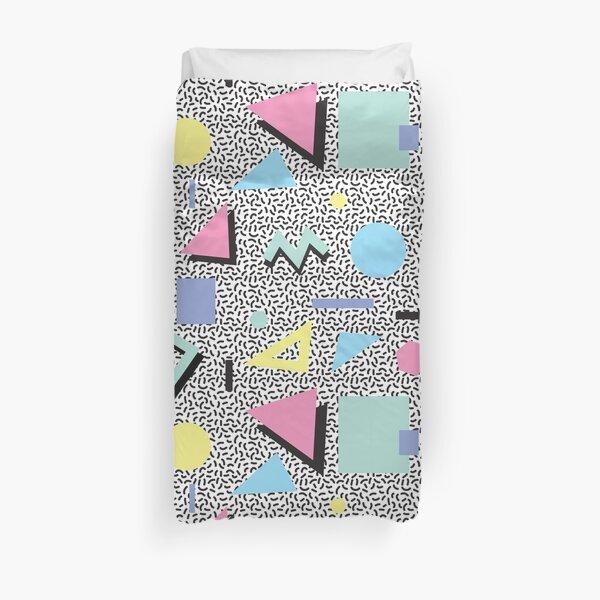 Eighties Memphis Pattern Design Duvet Cover