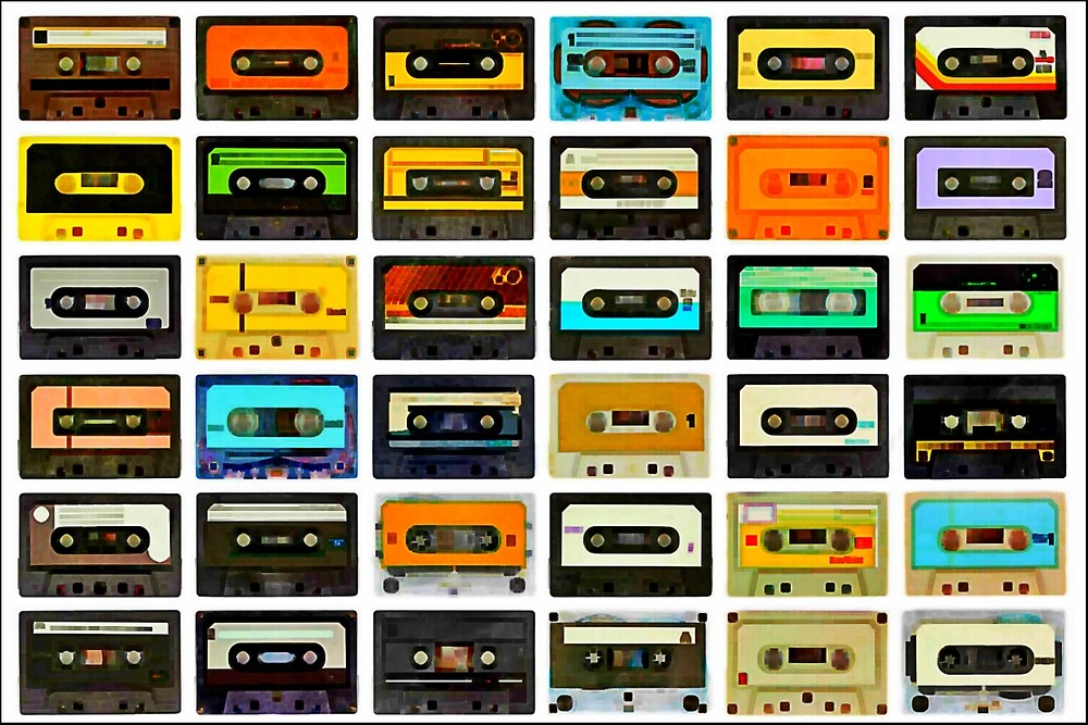 1980's Cassette Tapes Montage by GlesgaGeek