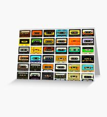 1980's Cassette Tapes Montage Greeting Card