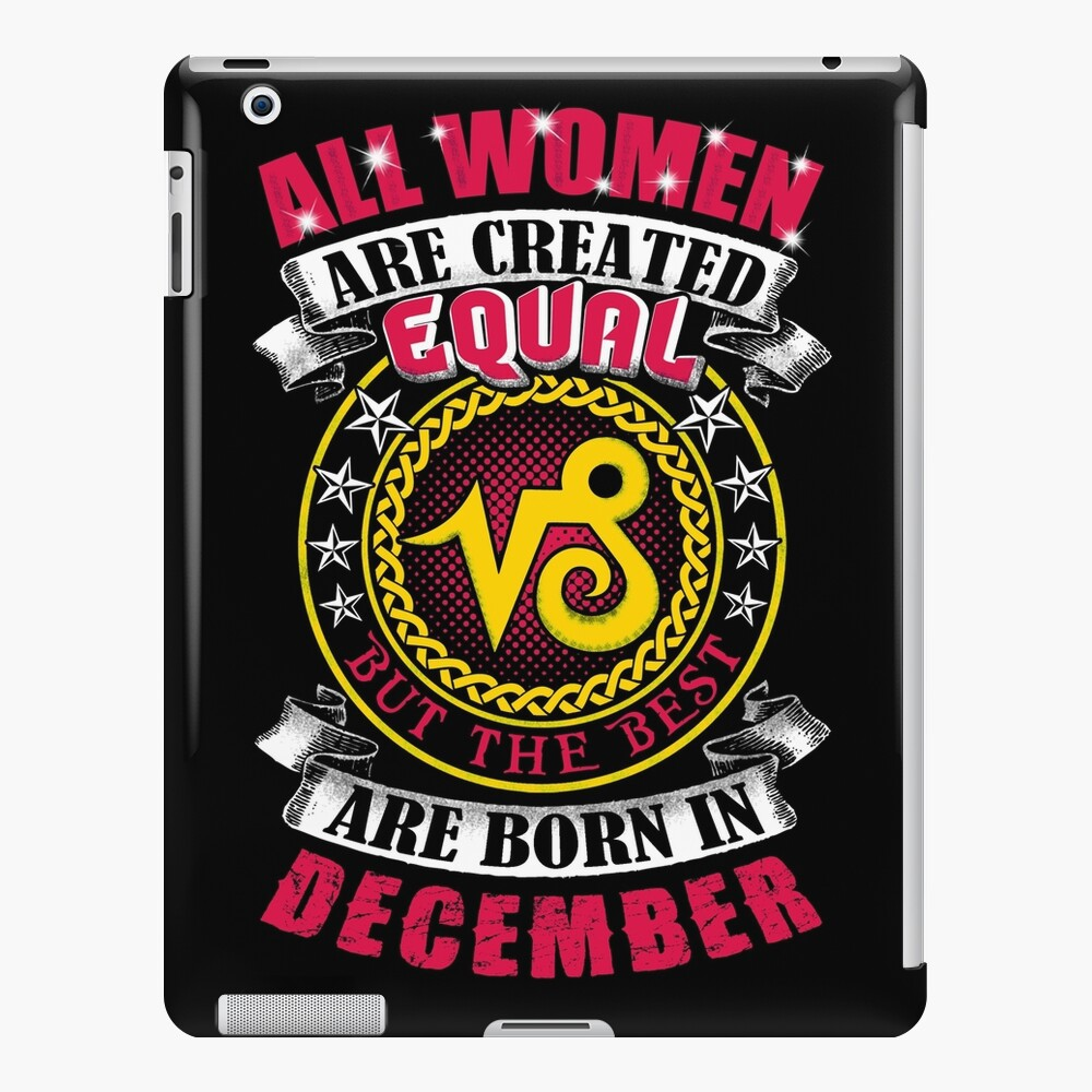 Best Women Born In December Birthday Capricorn Zodiac Sign   iPad Case &  Skin