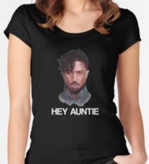 KILLMONGER | HEY AUNTIE Women's Fitted Scoop T-Shirt