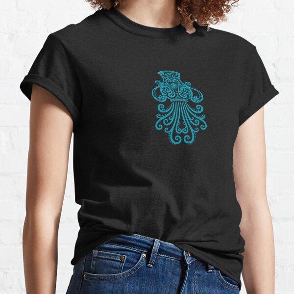 Blue Aquarius Zodiac Sign in the Stars Classic T-Shirt