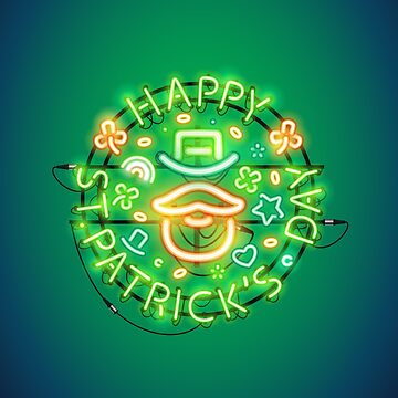 Irish St Patricks Day Neon Sign by Voysla