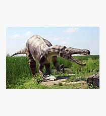 big danger dinosaur catch fish Photographic Print