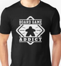 Board Game Addict - Meeples Board Gamer Tabletop Board Games Meeple Geek and Nerd Unisex T-Shirt