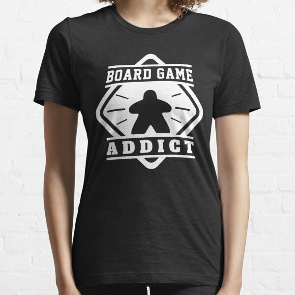 Board Game Addict - Meeples Board Gamer Tabletop Board Games Meeple Geek and Nerd Essential T-Shirt