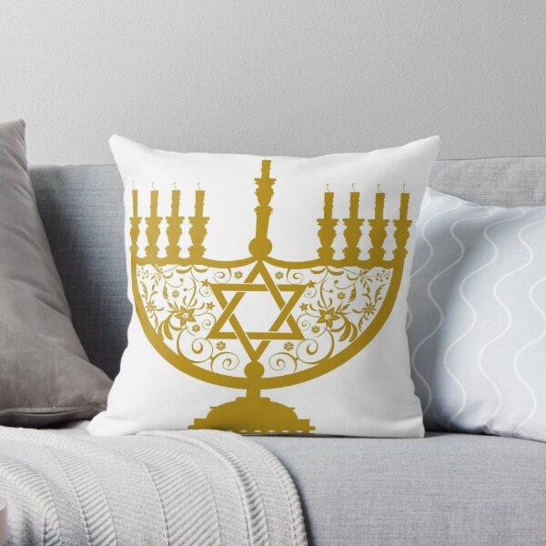 #Menorah, #sacred, #candelabrum, seven branches, #Temple, #Jerusalem,  #craftsman, #SevenBranches, #SacredCandelabrum Throw Pillow