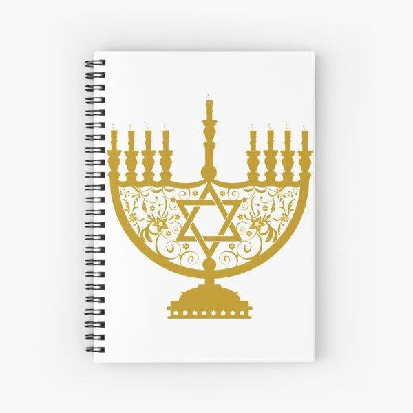 #Menorah, #sacred, #candelabrum, seven branches, #Temple, #Jerusalem,  #craftsman, #SevenBranches, #SacredCandelabrum Spiral Notebook