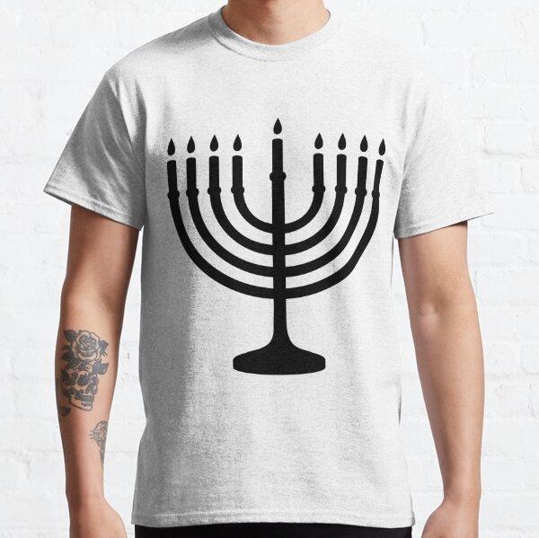 Menorah, sacred, candelabrum, seven branches, Temple, Jerusalem, Bezalel Classic T-Shirt