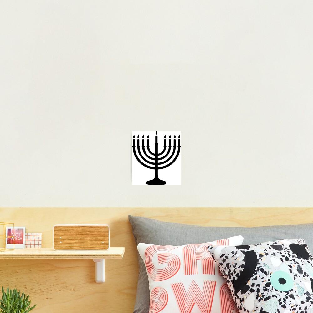Menorah, sacred, candelabrum, seven branches, Temple, Jerusalem, Bezalel Photographic Print
