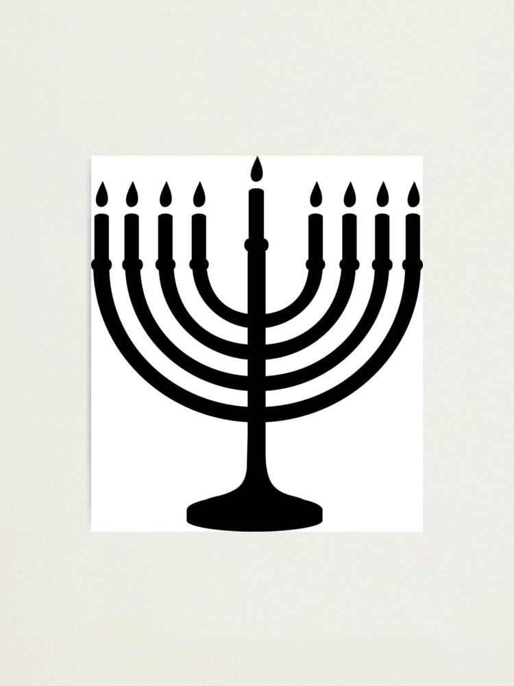 Alternate view of Menorah, sacred, candelabrum, seven branches, Temple, Jerusalem, Bezalel Photographic Print