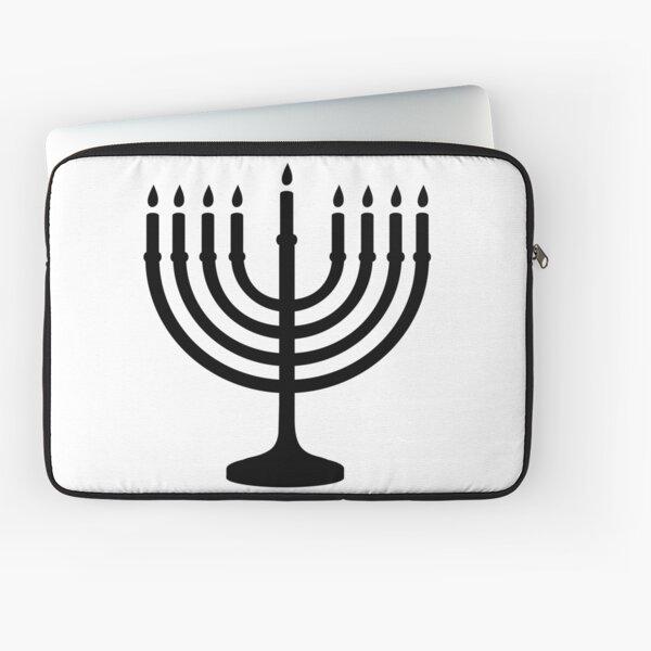 Menorah, sacred, candelabrum, seven branches, Temple, Jerusalem, Bezalel Laptop Sleeve