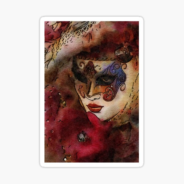Grand Masquerade Mask, Mistress Watching Sticker