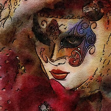 Grand Masquerade Mask, Mistress Watching by KirstenStar