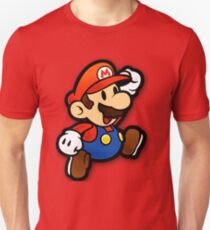 Benutzerdefinierte Papier Mario Shirt Unisex T-Shirt