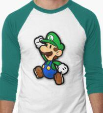 Custom Paper Mario Luigi Shirt Men's Baseball ¾ T-Shirt